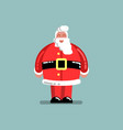 santa standing and smiling vector image vector image
