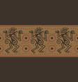 seamless border in indian style vector image vector image