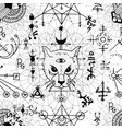 seamless pattern with mystic cat and beetle vector image