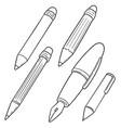 set pen and pencil vector image