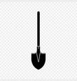 shovel spade icon silhouette vector image