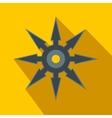 Shuriken flat icon vector image vector image