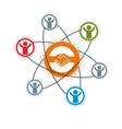 successful business creative logo handshake deal vector image vector image