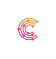 technology letter c logo icon design vector image