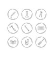 thermometer pills and dental pliers icons vector image vector image