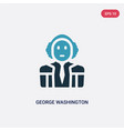 two color george washington icon from united vector image