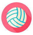 Volleyball Circle Icon vector image vector image