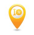 wheel pump icon map pointer yellow vector image vector image