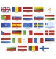 european union modern style flags vector image
