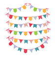 festive garlands isolated on white background vector image