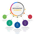 abstract circle infographic elements with five opt vector image vector image