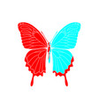 abstract polygonal butterfly vector image vector image