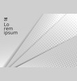 abstract template white and gray geometric vector image vector image