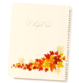Autumn background with sheet of paper and colorful