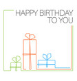 birthday minimalistic card template vector image vector image