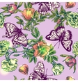 boho flowers and butterflies vector image vector image
