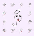 calot hat girl icon hat girl icons universal set vector image vector image