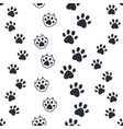 cat paw pattern seamless dog foot print wild vector image vector image