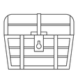 Chest icon outline style vector image vector image