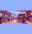 chinese new year holiday celebration houses vector image