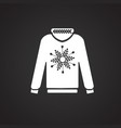 christmas sweetshirt on white background vector image vector image