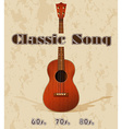 Classic song vector image