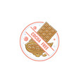 cocoa free icon for food allergen warning and vector image
