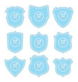 collection tooth protect icons vector image