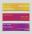 colorful banners template banners with abstract vector image