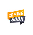 coming soon isolated icon paper style vector image vector image
