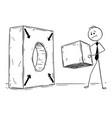 conceptual cartoon of problem solving vector image vector image