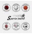 Cricket volleyball football basketball squash vector image