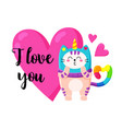 cute cartoon doodle cat vector image vector image