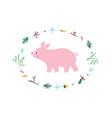 Cute pig minimalistic design