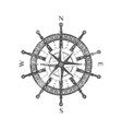 detailed antique compass wind rose icon vector image vector image