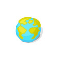 earth world globe vector image vector image