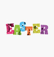 easter concept stamped word art vector image
