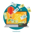 Financial investment concept vector image vector image