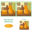 finding differences educational task for preschool vector image vector image