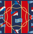 flags and cords fashion seamless pattern vector image vector image