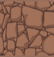 flat seamless stone texture brown stones vector image vector image