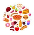 food on white background vector image vector image