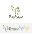 foot care logo design vector image vector image