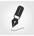 fountain pen icon flat design vector image