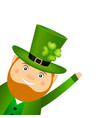 funny leprechaun for st patrick day vector image vector image