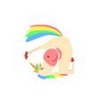 funny unicorn in invert position fantasy vector image vector image