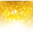 Gold winter background vector image