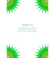 Green star page corner design template vector image vector image
