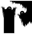 halloween nightmare monstercreepy ghost as backgr vector image