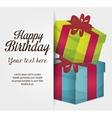 happy birthday gift isolated icon design vector image vector image